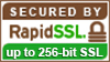 SSL Secured with RapidSSL 256-bit Encryption
