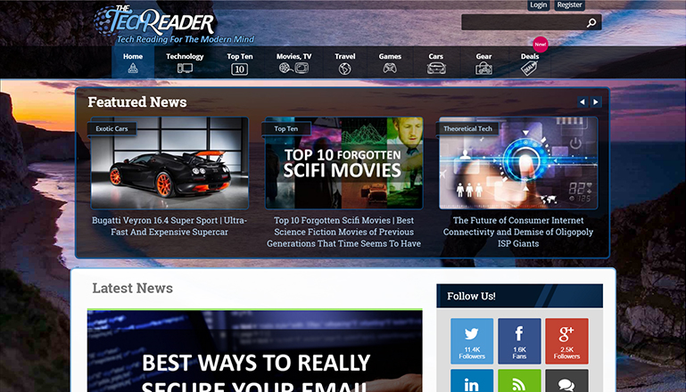 The TechReader::Technology, Games, and Movies and TV News